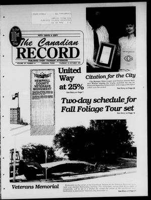 Primary view of object titled 'The Canadian Record (Canadian, Tex.), Vol. 101, No. 41, Ed. 1 Thursday, October 10, 1991'.