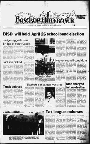Primary view of object titled 'The Bastrop Advertiser (Bastrop, Tex.), No. 103, Ed. 1 Thursday, February 28, 1980'.