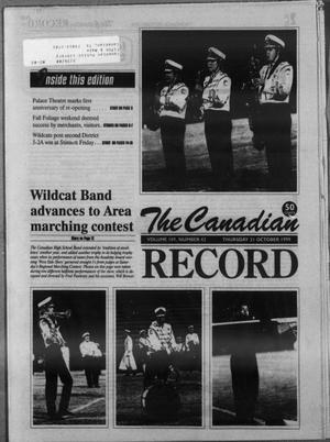 Primary view of object titled 'The Canadian Record (Canadian, Tex.), Vol. 109, No. 42, Ed. 1 Thursday, October 21, 1999'.