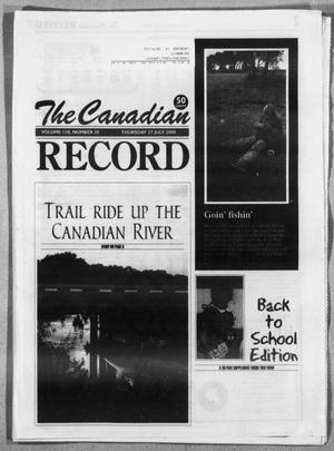 Primary view of object titled 'The Canadian Record (Canadian, Tex.), Vol. 110, No. 30, Ed. 1 Thursday, July 27, 2000'.