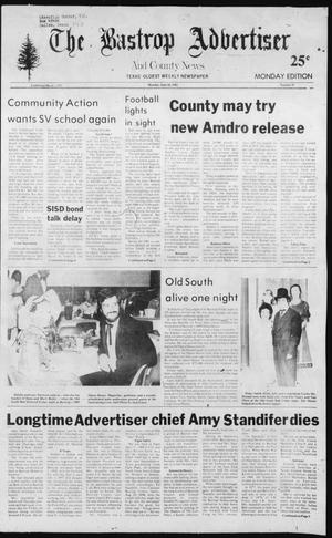 Primary view of object titled 'The Bastrop Advertiser and County News (Bastrop, Tex.), No. 35, Ed. 1 Monday, June 28, 1982'.