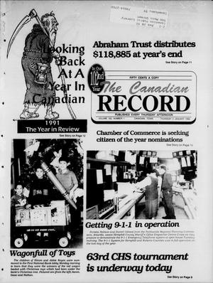 Primary view of object titled 'The Canadian Record (Canadian, Tex.), Vol. 102, No. 1, Ed. 1 Thursday, January 2, 1992'.