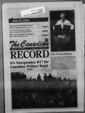 Primary view of object titled 'The Canadian Record (Canadian, Tex.), Vol. 110, No. 15, Ed. 1 Thursday, April 13, 2000'.