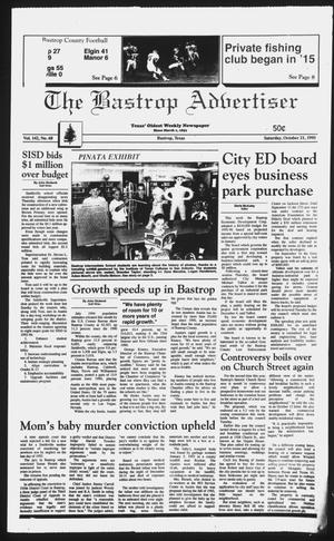 Primary view of object titled 'The Bastrop Advertiser (Bastrop, Tex.), Vol. 142, No. 68, Ed. 1 Saturday, October 21, 1995'.