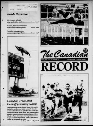 Primary view of object titled 'The Canadian Record (Canadian, Tex.), Vol. 107, No. 11, Ed. 1 Thursday, March 13, 1997'.