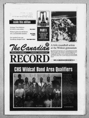 Primary view of object titled 'The Canadian Record (Canadian, Tex.), Vol. 110, No. 49, Ed. 1 Thursday, December 7, 2000'.
