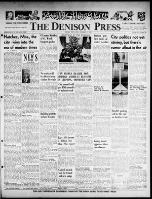 Primary view of object titled 'The Denison Press (Denison, Tex.), Vol. 26, No. 27, Ed. 1 Friday, December 31, 1954'.