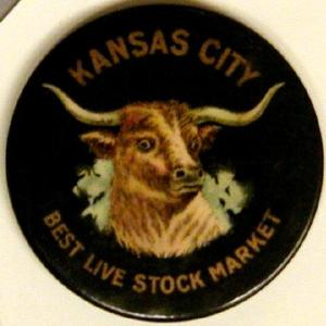 "Primary view of object titled '[Button that reads ""KANSAS CITY BEST LIVE STOCK MARKET""]'."