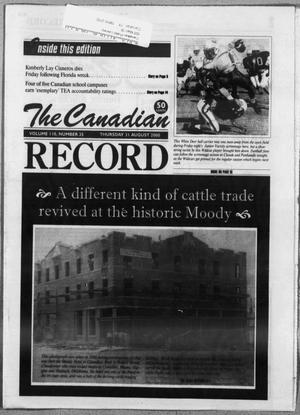 Primary view of object titled 'The Canadian Record (Canadian, Tex.), Vol. 110, No. 35, Ed. 1 Thursday, August 31, 2000'.