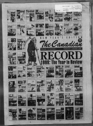 Primary view of object titled 'The Canadian Record (Canadian, Tex.), Vol. 110, No. 1, Ed. 1 Thursday, January 6, 2000'.