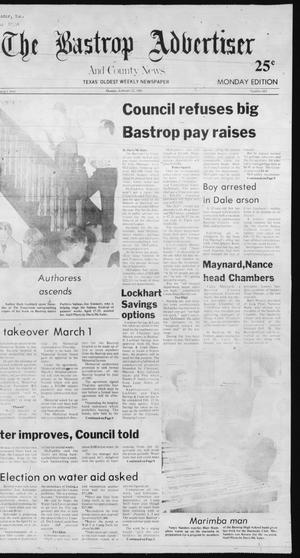Primary view of object titled 'The Bastrop Advertiser and County News (Bastrop, Tex.), No. 103, Ed. 1 Monday, February 22, 1982'.