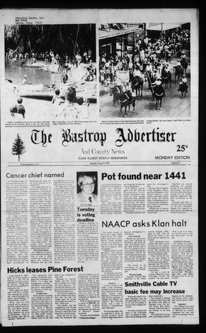 Primary view of object titled 'The Bastrop Advertiser and County News (Bastrop, Tex.), Ed. 1 Monday, August 9, 1982'.