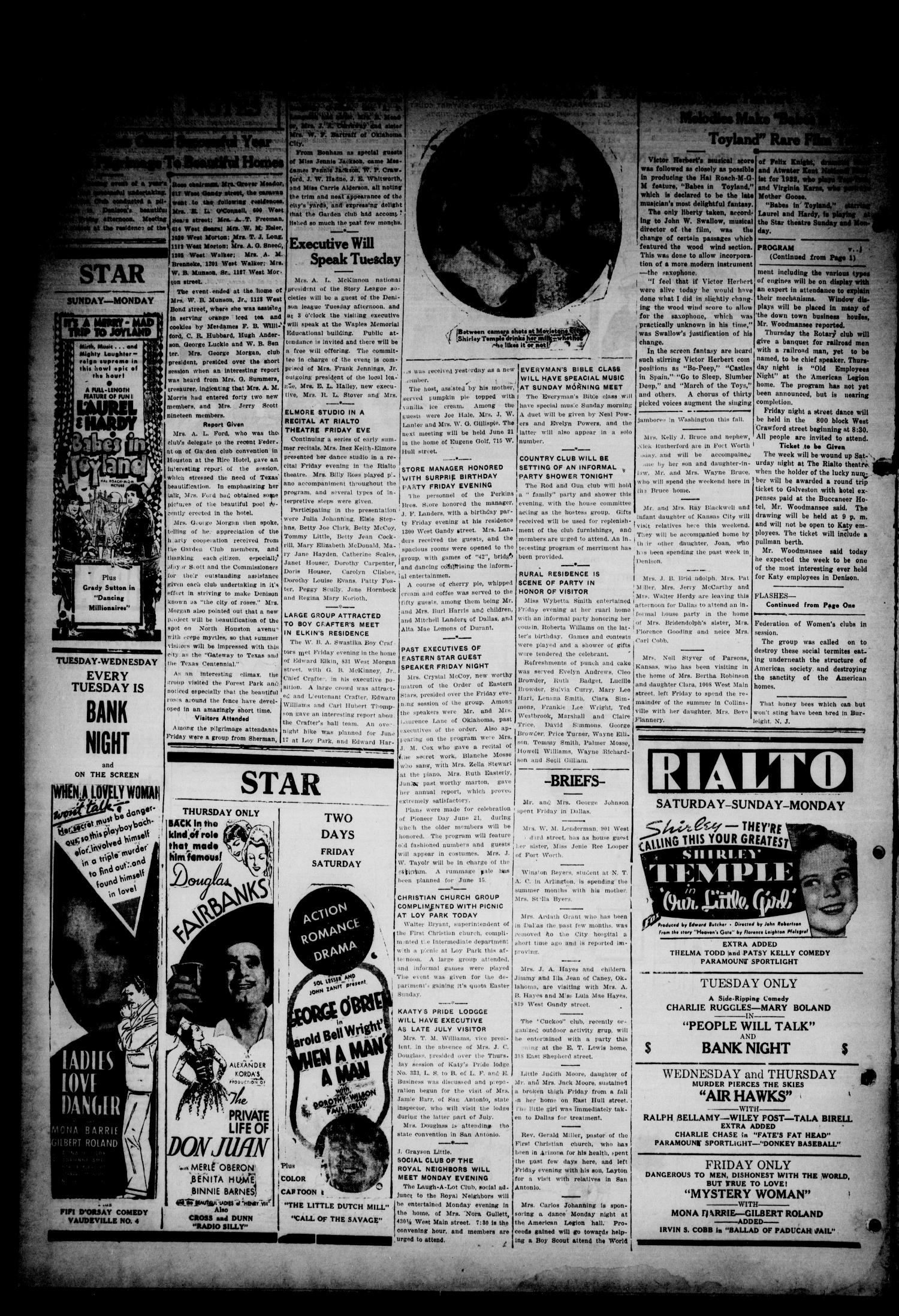 The Denison Press (Denison, Tex.), Vol. 5, No. 65, Ed. 1 Saturday, June 8, 1935                                                                                                      [Sequence #]: 4 of 4