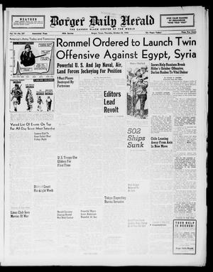 Primary view of object titled 'Borger Daily Herald (Borger, Tex.), Vol. 16, No. 287, Ed. 1 Thursday, October 22, 1942'.