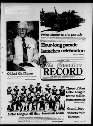 Primary view of object titled 'The Canadian Record (Canadian, Tex.), Vol. 101, No. 28, Ed. 1 Thursday, July 11, 1991'.