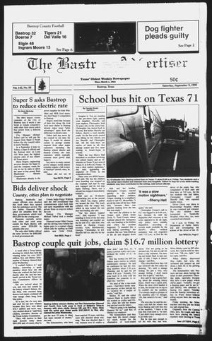 Primary view of object titled 'The Bastrop Advertiser (Bastrop, Tex.), Vol. 142, No. 56, Ed. 1 Saturday, September 9, 1995'.