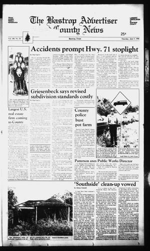 Primary view of object titled 'The Bastrop Advertiser and County News (Bastrop, Tex.), Vol. 140, No. 28, Ed. 1 Thursday, June 5, 1986'.