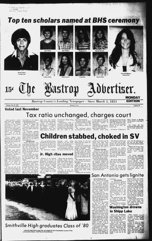 Primary view of object titled 'The Bastrop Advertiser (Bastrop, Tex.), No. 25, Ed. 1 Monday, May 26, 1980'.