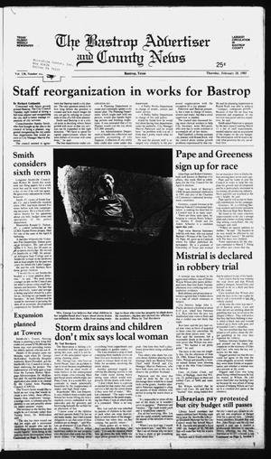 Primary view of object titled 'The Bastrop Advertiser and County News (Bastrop, Tex.), Vol. 138, No. 102, Ed. 1 Thursday, February 28, 1985'.