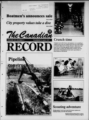 Primary view of object titled 'The Canadian Record (Canadian, Tex.), Vol. 107, No. 31, Ed. 1 Thursday, July 31, 1997'.