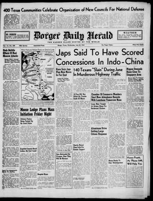 Primary view of object titled 'Borger Daily Herald (Borger, Tex.), Vol. 15, No. 208, Ed. 1 Wednesday, July 23, 1941'.