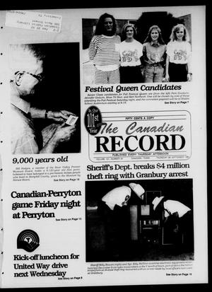 Primary view of object titled 'The Canadian Record (Canadian, Tex.), Vol. 101, No. 39, Ed. 1 Thursday, September 26, 1991'.