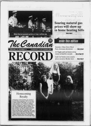 Primary view of object titled 'The Canadian Record (Canadian, Tex.), Vol. 110, No. 39, Ed. 1 Thursday, September 28, 2000'.