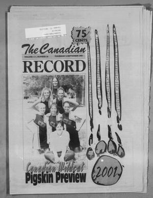 Primary view of object titled 'The Canadian Record (Canadian, Tex.), Vol. 111, No. 36, Ed. 1 Thursday, September 6, 2001'.