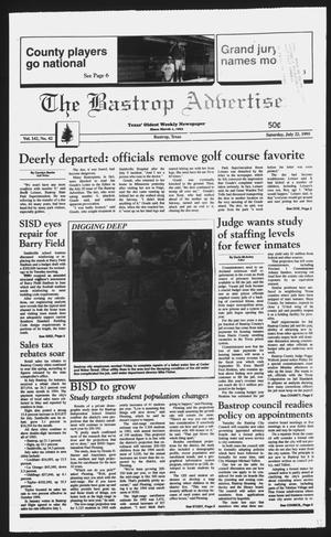 Primary view of object titled 'The Bastrop Advertiser (Bastrop, Tex.), Vol. 142, No. 42, Ed. 1 Saturday, July 22, 1995'.