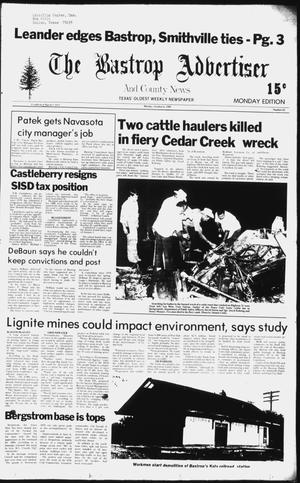 Primary view of object titled 'The Bastrop Advertiser and County News (Bastrop, Tex.), No. 62, Ed. 1 Monday, October 6, 1980'.