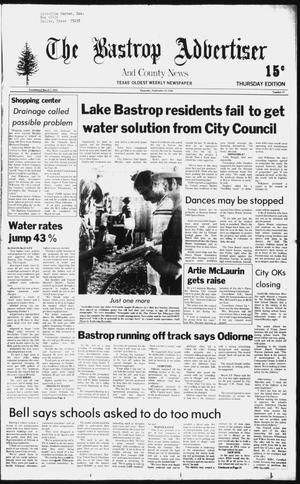 Primary view of object titled 'The Bastrop Advertiser and County News (Bastrop, Tex.), No. 57, Ed. 1 Thursday, September 18, 1980'.