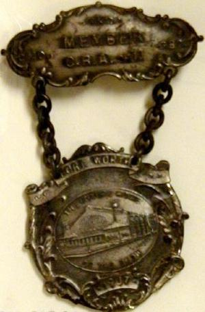 Primary view of [Two pieces medals connected by chain]
