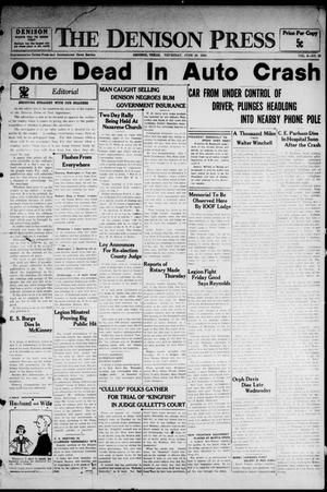 Primary view of The Denison Press (Denison, Tex.), Vol. 4, No. 19, Ed. 1 Thursday, June 28, 1934
