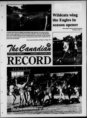 Primary view of object titled 'The Canadian Record (Canadian, Tex.), Vol. 105, No. 37, Ed. 1 Thursday, September 14, 1995'.