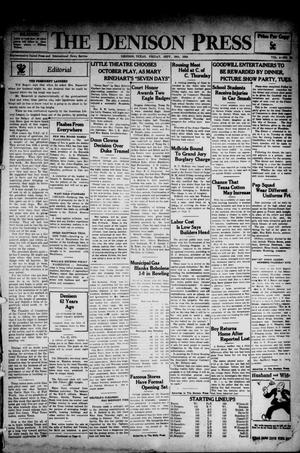 Primary view of The Denison Press (Denison, Tex.), Vol. 4, No. 96, Ed. 1 Friday, September 28, 1934