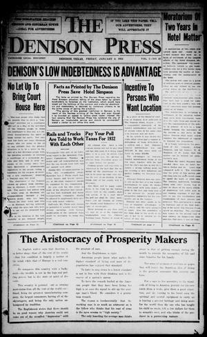 The Denison Press (Denison, Tex.), Vol. 1, No. 43, Ed. 1 Friday, January 8, 1932