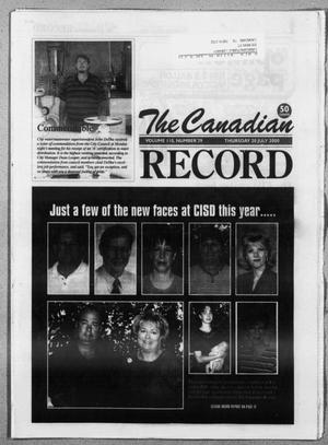 Primary view of object titled 'The Canadian Record (Canadian, Tex.), Vol. 110, No. 29, Ed. 1 Thursday, July 20, 2000'.