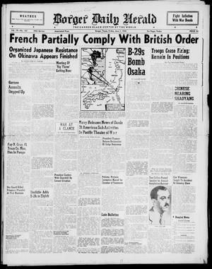 Primary view of object titled 'Borger Daily Herald (Borger, Tex.), Vol. 19, No. 163, Ed. 1 Friday, June 1, 1945'.