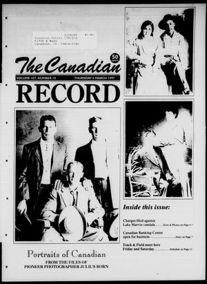 Primary view of object titled 'The Canadian Record (Canadian, Tex.), Vol. 107, No. 10, Ed. 1 Thursday, March 6, 1997'.