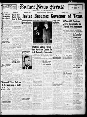 Primary view of object titled 'Borger News-Herald (Borger, Tex.), Vol. 21, No. 48, Ed. 1 Tuesday, January 21, 1947'.