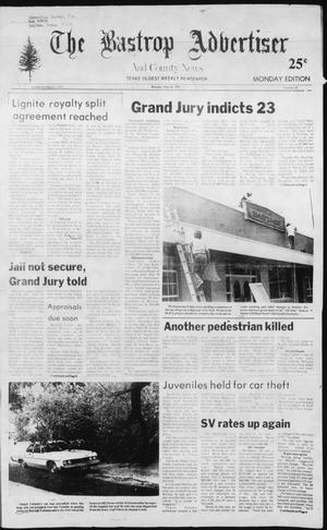 Primary view of object titled 'The Bastrop Advertiser and County News (Bastrop, Tex.), No. 25, Ed. 1 Monday, May 24, 1982'.