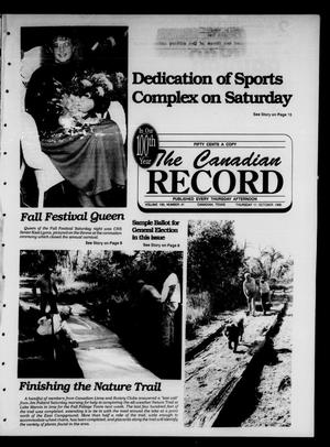 Primary view of object titled 'The Canadian Record (Canadian, Tex.), Vol. 100, No. 41, Ed. 1 Thursday, October 11, 1990'.