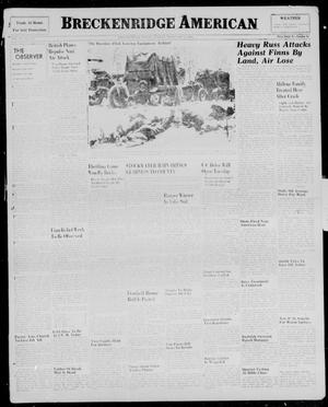 Primary view of object titled 'Breckenridge American (Breckenridge, Tex.), Vol. 20, No. 154, Ed. 1, Sunday, February 4, 1940'.