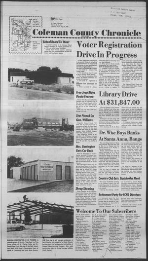 Primary view of object titled 'Coleman County Chronicle (Coleman, Tex.), Vol. 49, No. 42, Ed. 1 Thursday, September 9, 1982'.