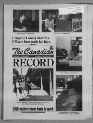 Primary view of object titled 'The Canadian Record (Canadian, Tex.), Vol. 111, No. 31, Ed. 1 Thursday, August 2, 2001'.