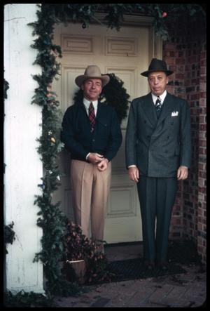 [Watt Matthews and Ardon Judd, Sr. in a Decorated Doorway]