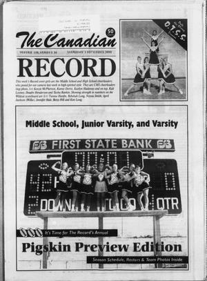 Primary view of object titled 'The Canadian Record (Canadian, Tex.), Vol. 110, No. 36, Ed. 1 Thursday, September 7, 2000'.
