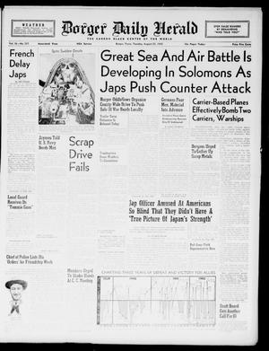 Borger Daily Herald (Borger, Tex.), Vol. 16, No. 237, Ed. 1 Tuesday, August 25, 1942
