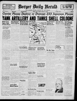 Borger Daily Herald (Borger, Tex.), Vol. 19, No. 82, Ed. 1 Tuesday, February 27, 1945