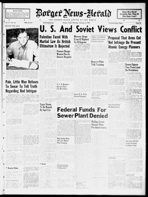 Primary view of object titled 'Borger News-Herald (Borger, Tex.), Vol. 21, No. 62, Ed. 1 Thursday, February 6, 1947'.